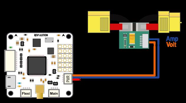 revo current voltage sensor setup librepilot openpilot wiki images currentvoltagesensor connection revo png