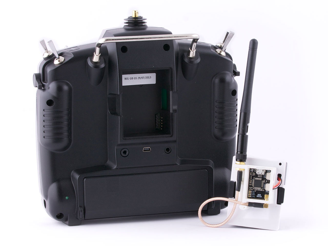 Oplm Vehicle Control Link Librepilot Openpilot Wiki 014 Cc3d Wiring Diagrams 3d Mounting The Oplink Module To Transmitter